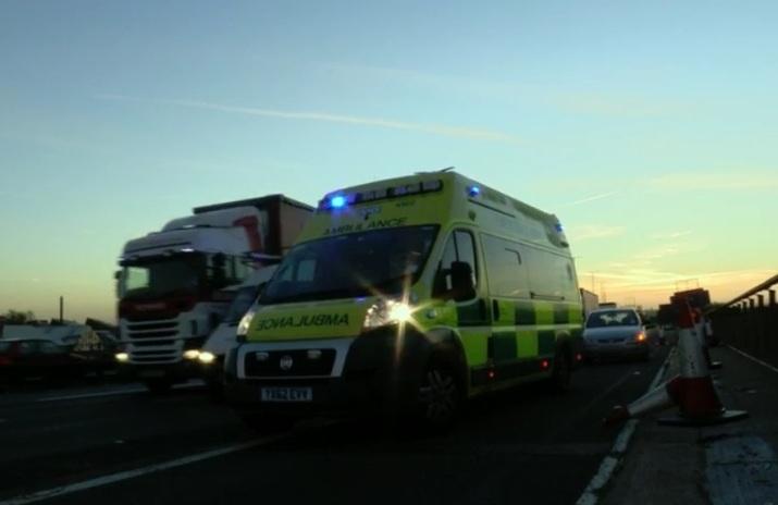 Ambulance on M6