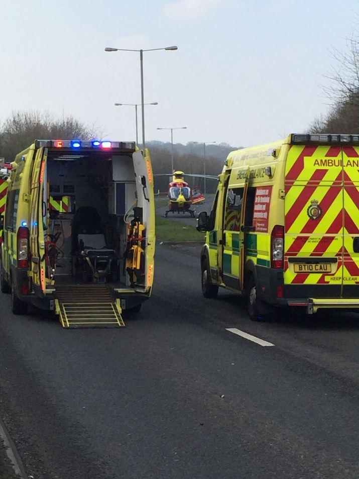 Two Ambulances + HMED 03 (side)