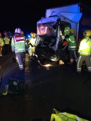 LORRY DRIVER TRAPPED FOR 50 MINUTES ON M6 IN STAFFORD1