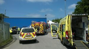 LORRY DRIVER SUFFERS SEROUS LEG INJURIES IN STOKE ON TRENT 2