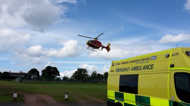 Woman airlifted after kick from horse