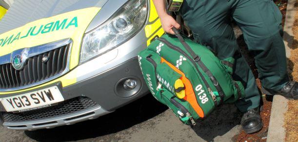 Ambulance man and bag