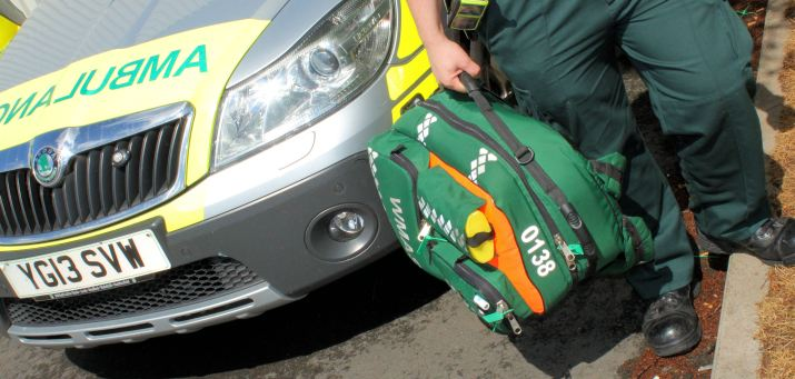 Ambulance man and bag
