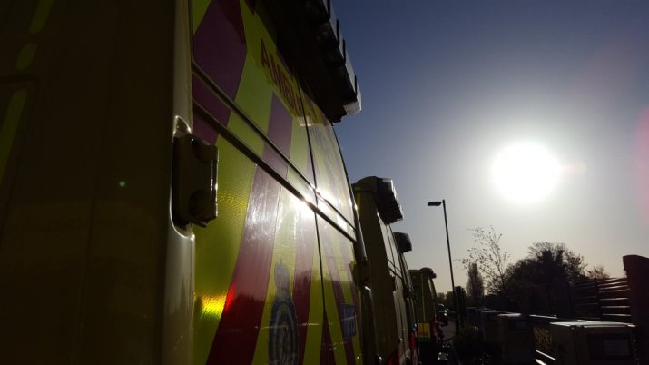 Ambulances in the sun