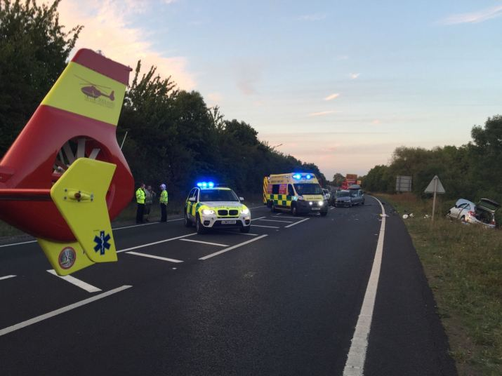 Woman airlifted from RTC in Evesham.jpg