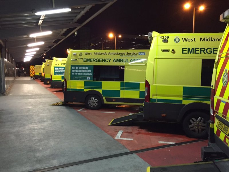 Ambulances at QEHB