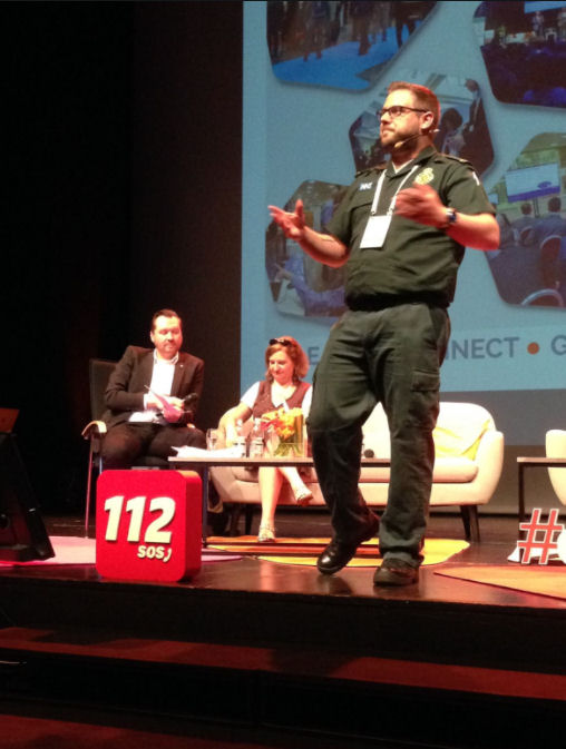 #BLUELIGHTHAPPY ROB PRESENTS AT EMERGENCY SERVICES CONFERENCE IN SLOVENIA 4