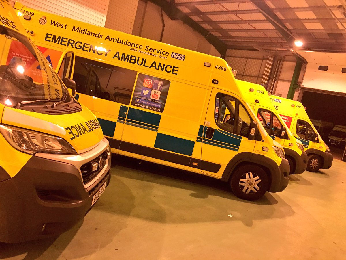 Ambulances in garage