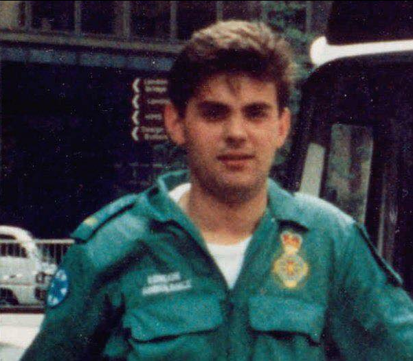 Steve Wheaton aged 16 at London Ambulance Service