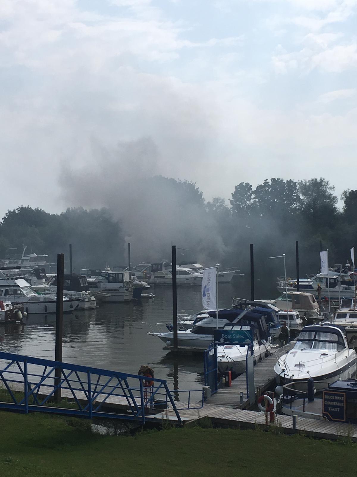 Upton Marina Fire (25-7-19)
