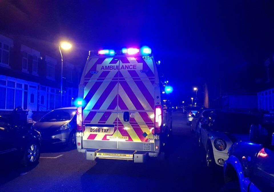 Night - Ambulance in street (2)