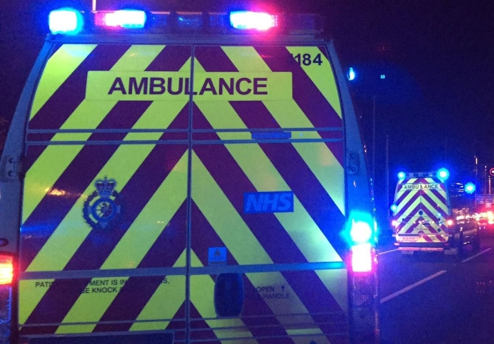 Night - Ambulances on motorway