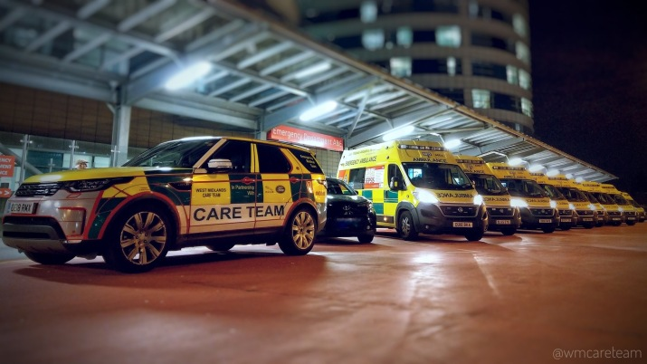 Night - AMbulance and Care Team Car at QE