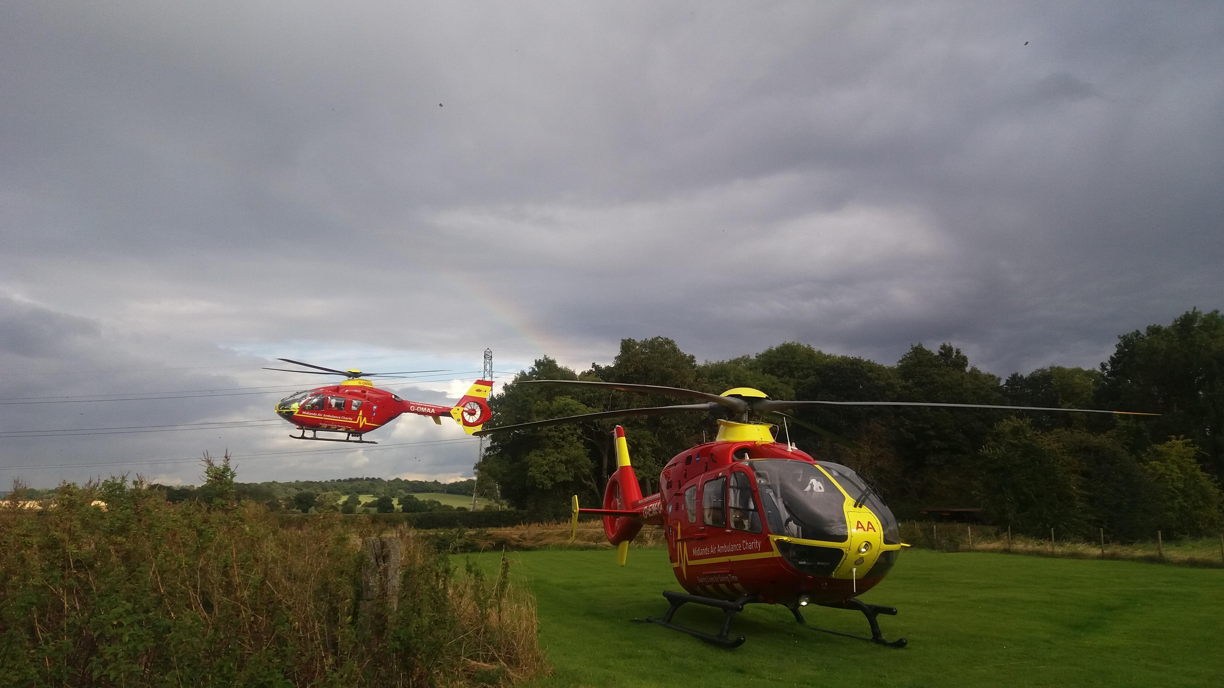 2 x MAA helicopters