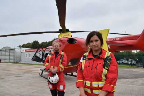 Dr Richard Brown & Critical Care Paramedic Beckie Chappell